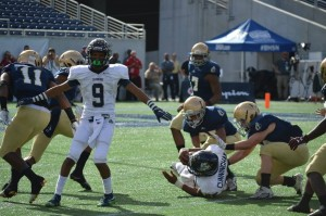 Derrick Powell (9) will be a major factor in coverage for Cambridge Christian.
