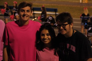 Riverview students Jeremy Stultz, Michell Delgado, and Jordan Rundle.