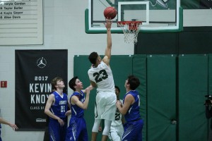 Tampa Catholic F Kevin Knox (23) lays up against Jesuit in a non-district regular season game. Knox (28.8 PPG) will lead the Crusaders in the quest for a State Championship.