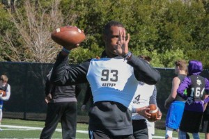 Sebring QB Brian Lane at the 2017 Ignite Showcase last month.