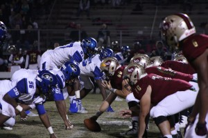Chandler Pierce (60) waits to snap the ball against Armwood in Round Two of the FHSAA 6A Playoffs in November. Lake Gibson was victorious 18-15 on a field goal as time expired.