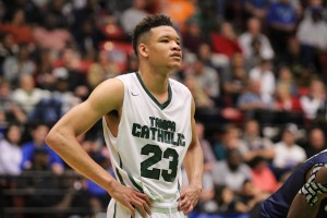 Tampa Catholic F Kevin Knox finished with 25 points and averaged 32.0 PPG in his final two high school games.