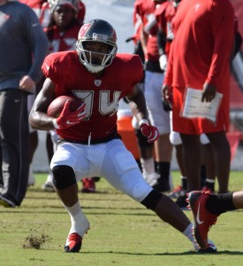 Buccaneer RB Charles Sims III during team drills at Training Camp